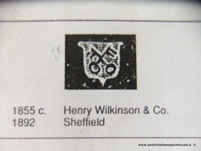 Henry Wilkinson & Co. 1855/1892 Città di Sheffield