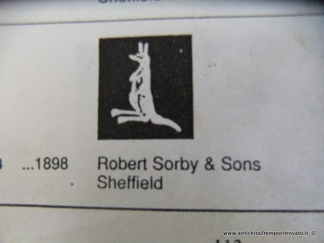 Marchio inglese su placcati: Robert Sorby & Sons, 1898 Sheffield